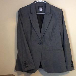 Liz Claiborne Tweed gray/black  blazer